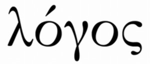 """""""Logos"""" as it is written in Greek. Logos is translated as """"The Word"""" in John chapter 1"""