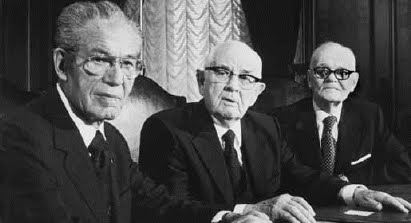 The 1st Presidency Kimball, Tanner and Romney 1978