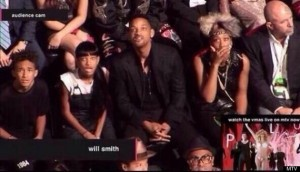 ada and Will Smith's family gasp at the lovely VMA routine.