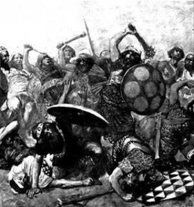 The Conquest of Canaan, in drawing
