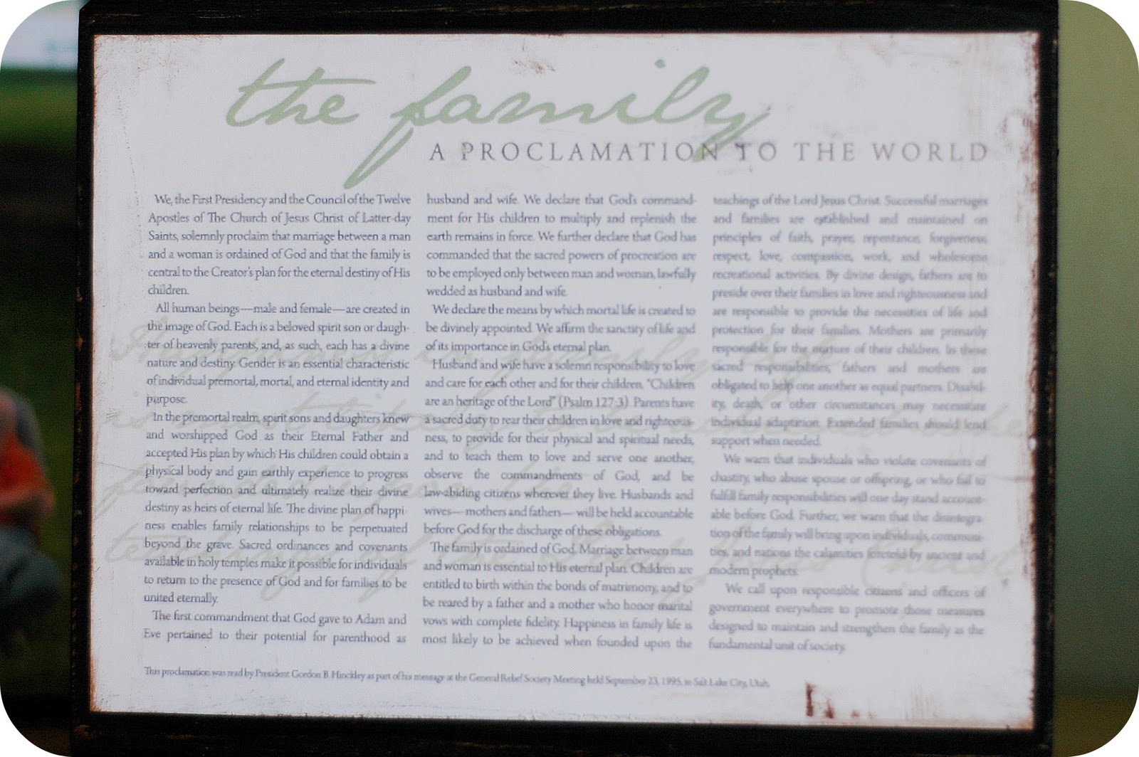 The Family and Children–A Proclamation to the World
