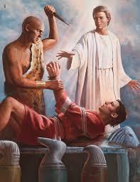 The near sacrifice of Abraham