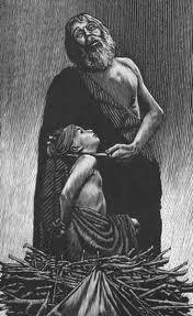 Sacrificing his son whom he loves