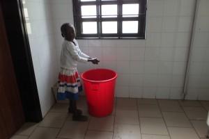 Washing hands.