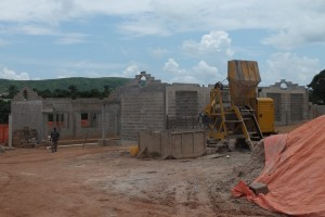 Ongoing construction for new multi-building church site in Likasi.