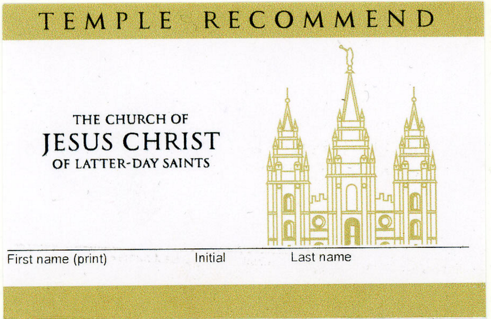 Why I Turned In My Temple Recommend