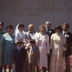 Mom and dad's wedding at the Provo temple. Paul is in the dark blue suit. I am wearing the light brown suit.