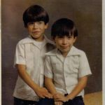 Paul and me in our guayaberas. This picture was taken when dad was still single.