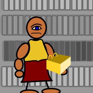Moroni holding gold plates