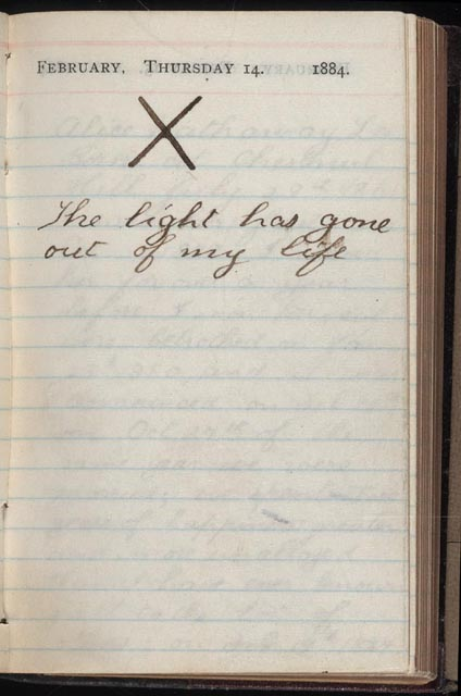 Teddy Roosevelt's Journal entry on the day both his wife and mother died.